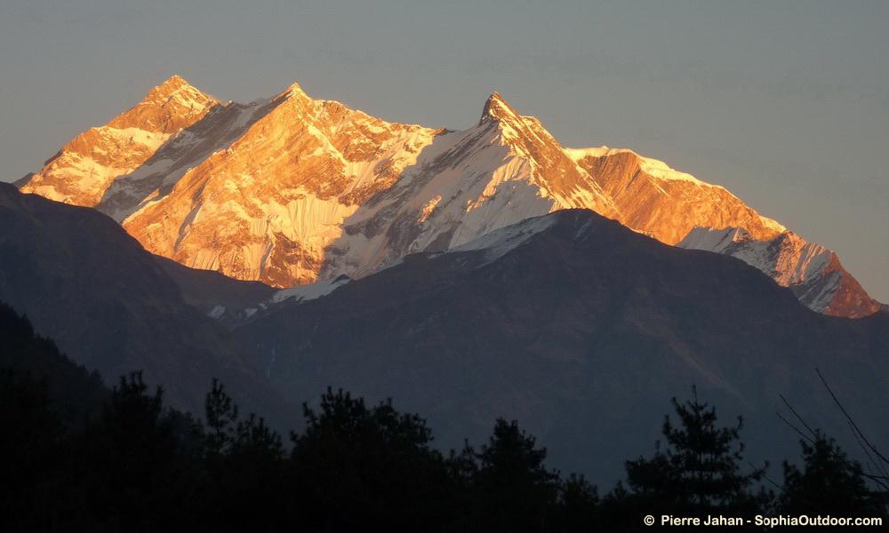 Coucher de soleil sur les Annapurnas