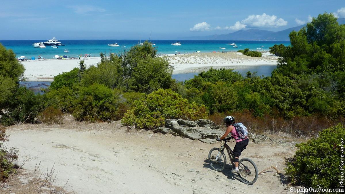 Arrivée à la plage de Saleccia