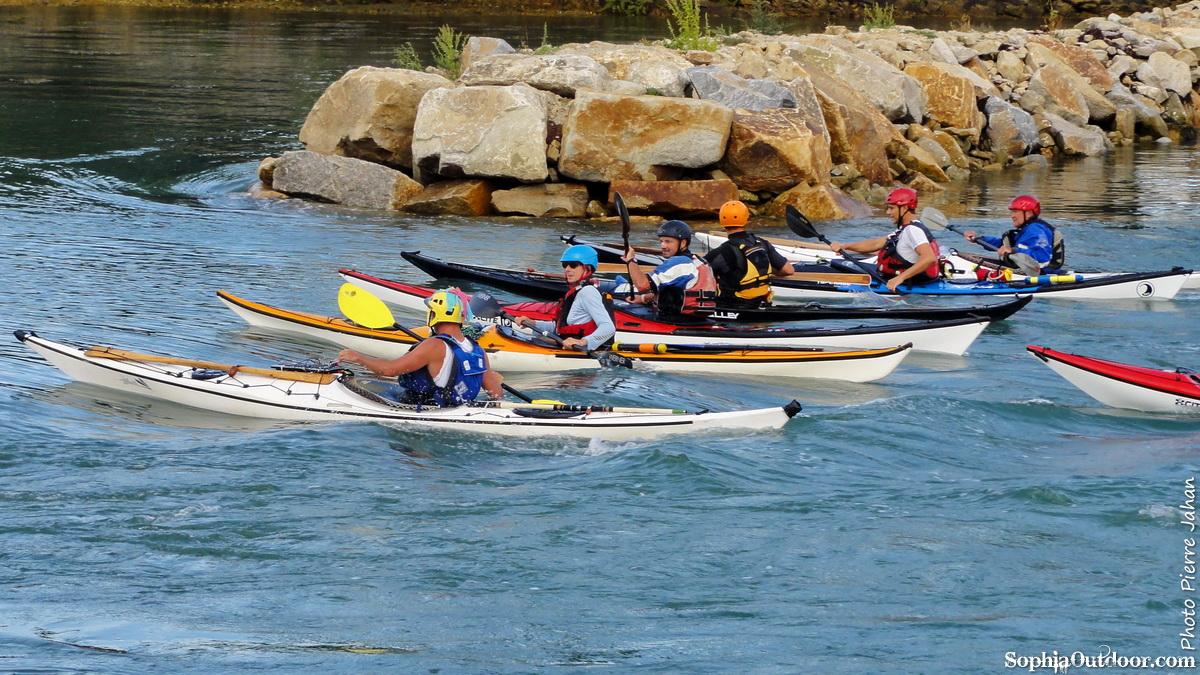 navigation en kayak sur le gof du Morbihan DSC09128