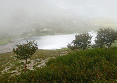 Tandis que les nuages couvrent le plateau d'un voile blanc. P1320537