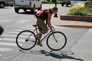 """""""Vélo-taffeuse"""" à Fruita, Colorado"""