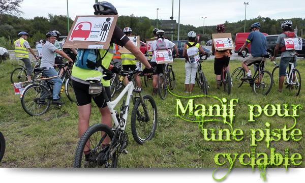 Manif' pour une piste cyclable